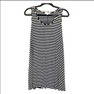Socialite Black and white striped tank dress sz.m
